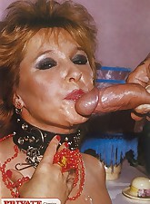 Horny MILF that attacks throbbing hard cocks and enjoys it